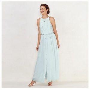 Lauren Conrad Women Shimmer Halter Maxi Dress NWOT